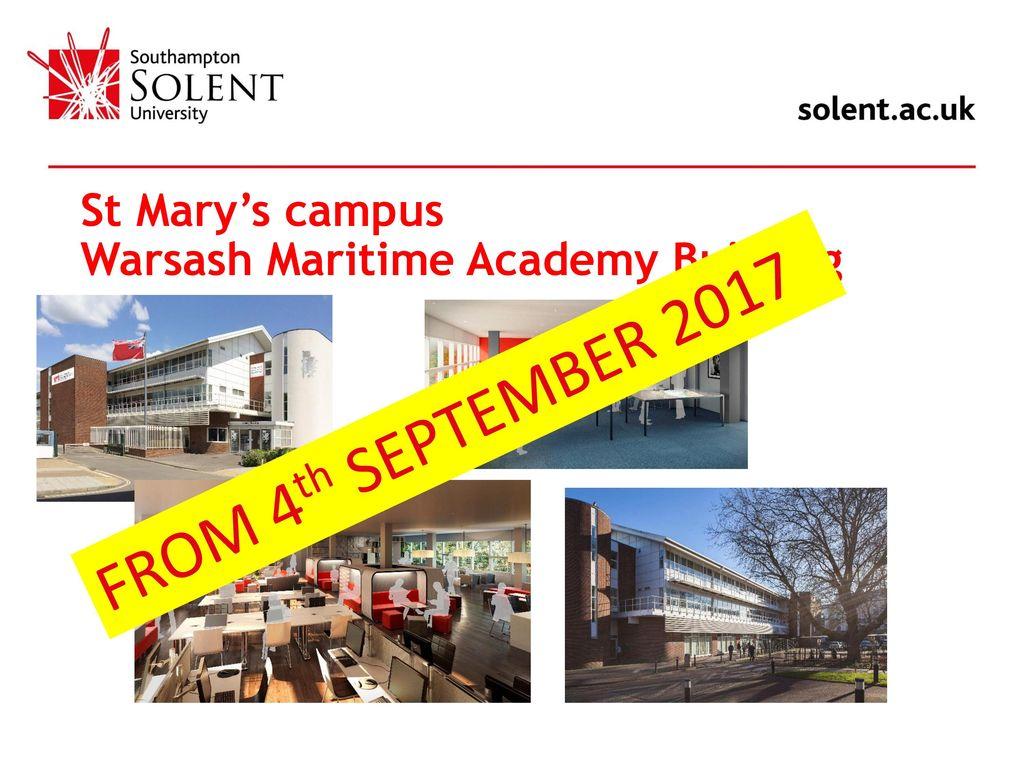 Warsash Maritime Academy John Bazley WMA Operations Manager