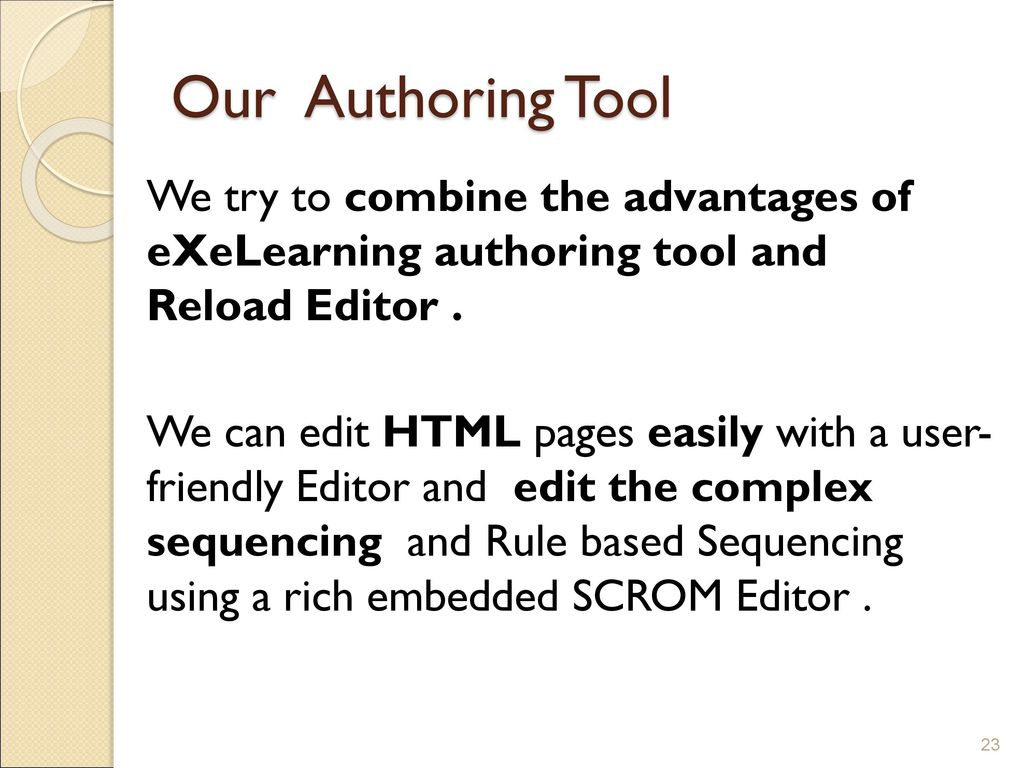 SCORM Compliant Authoring Tool - ppt download