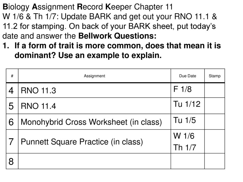 Biology Assignment Record Keeper Chapter Ppt Download