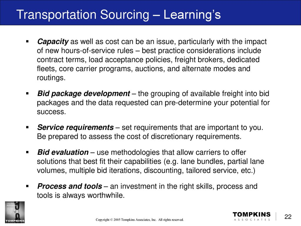 Effective Sourcing Processes for Logistics Service Providers