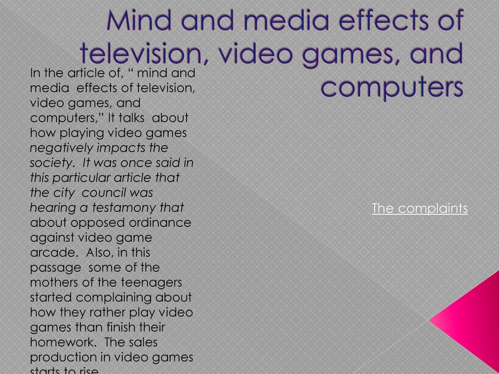 Do Television And Video Games Impact >> The Positive And Negative Impact On Society Ppt Download