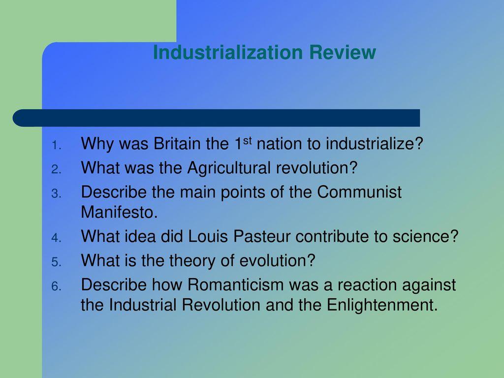 Industrial Revolution Chapter - ppt download