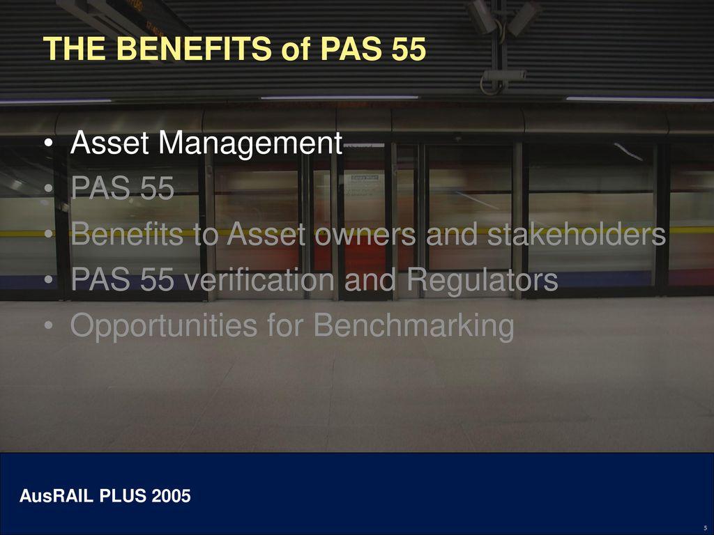 Pas55 understanding and opportunities.