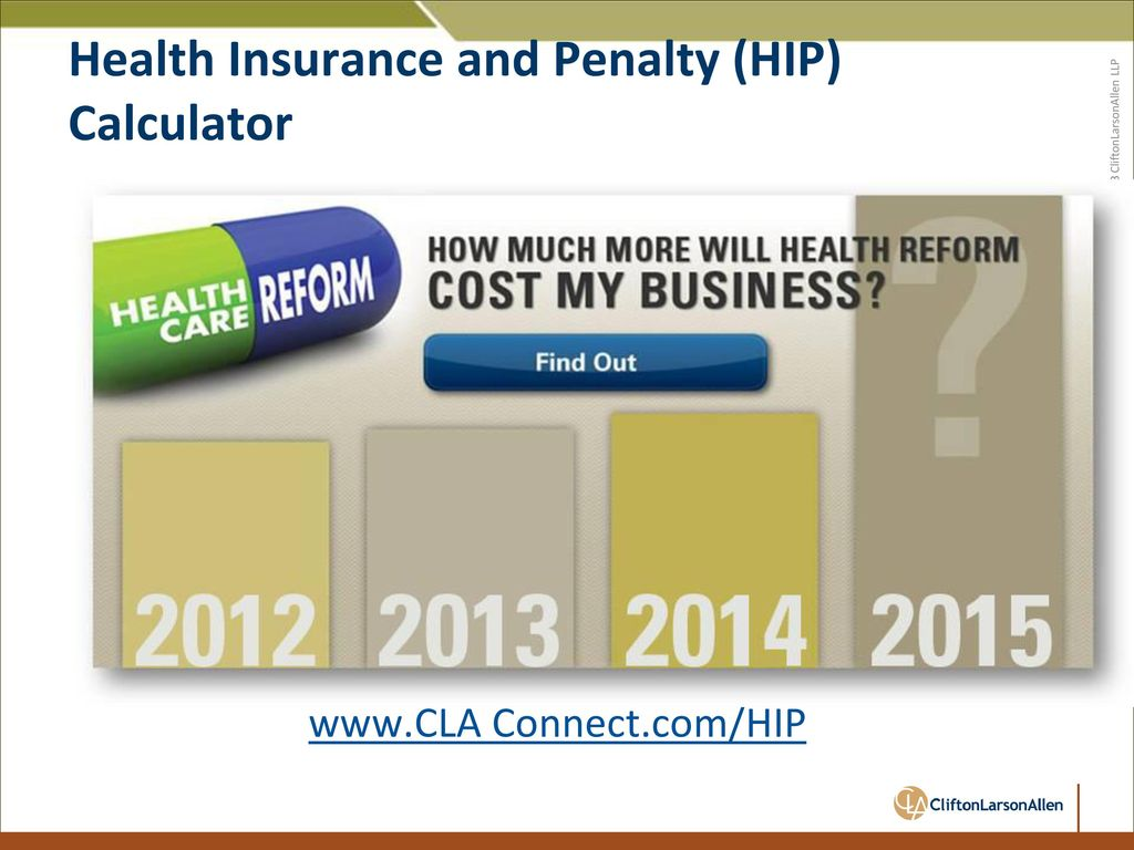 6 Health Insurance and Penalty (HIP) Calculator