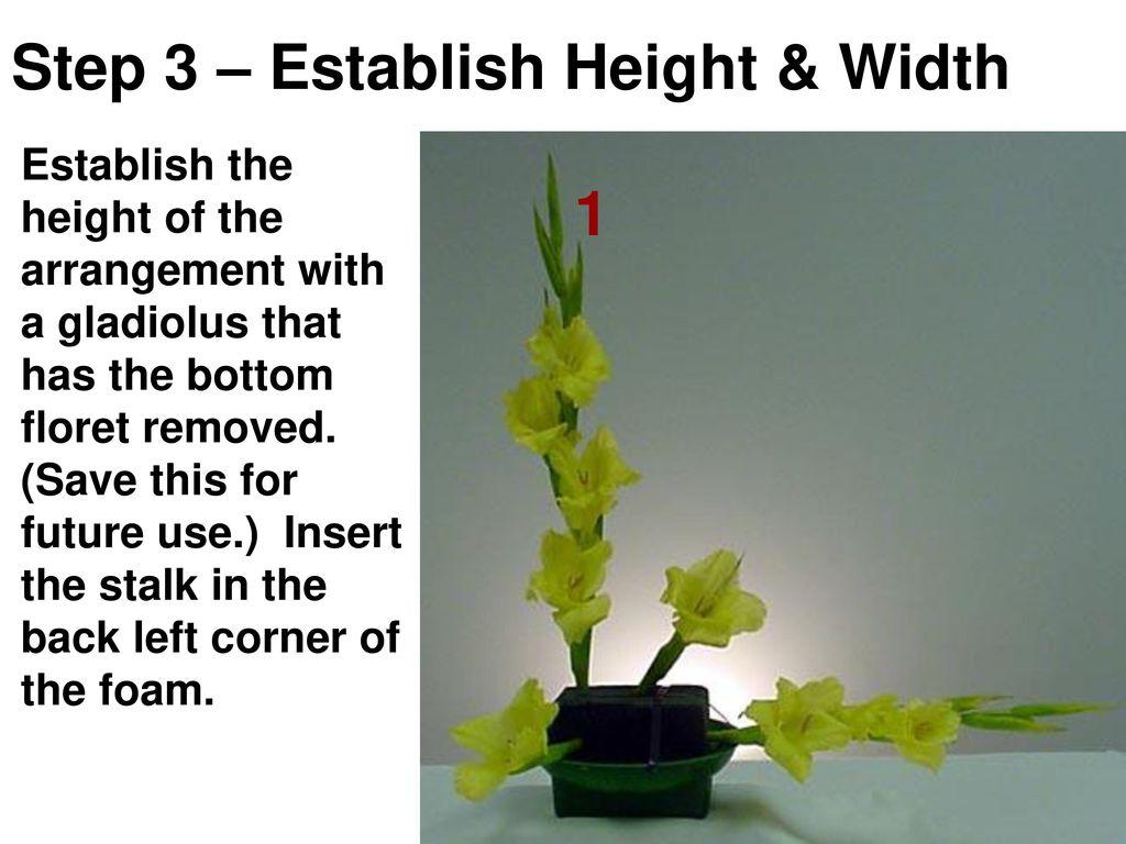 Floral Design The L Line Arrangement Ppt Download