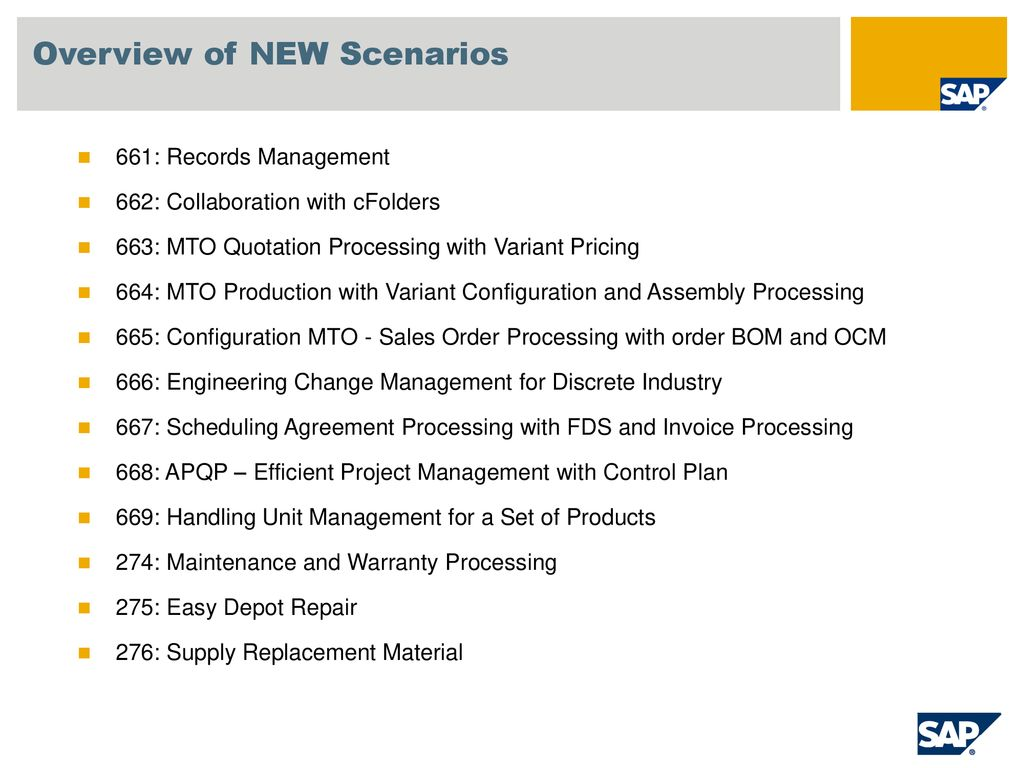 SAP Best Practices for Industrial Machinery & Components