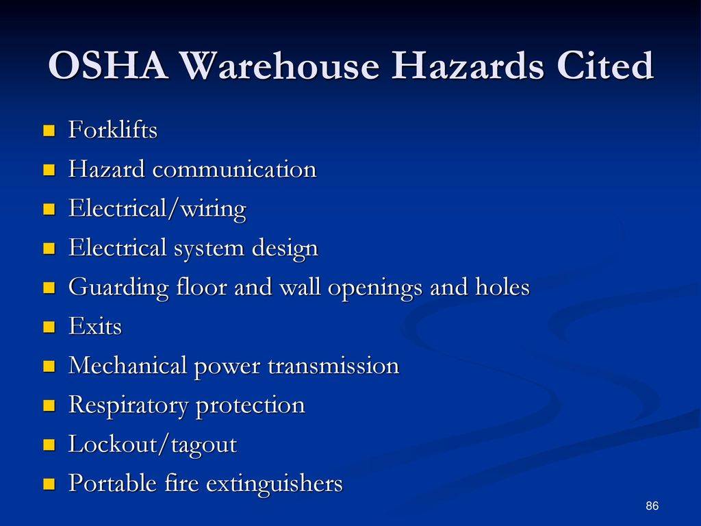 Electrical Wiring Hazards In Warehouses Trusted Diagrams Aluminum Scm 124 Warehouse Operations Ppt Download Dangers