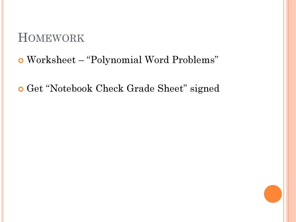 8 1 8 4 Polynomial Word Problems Ppt Download