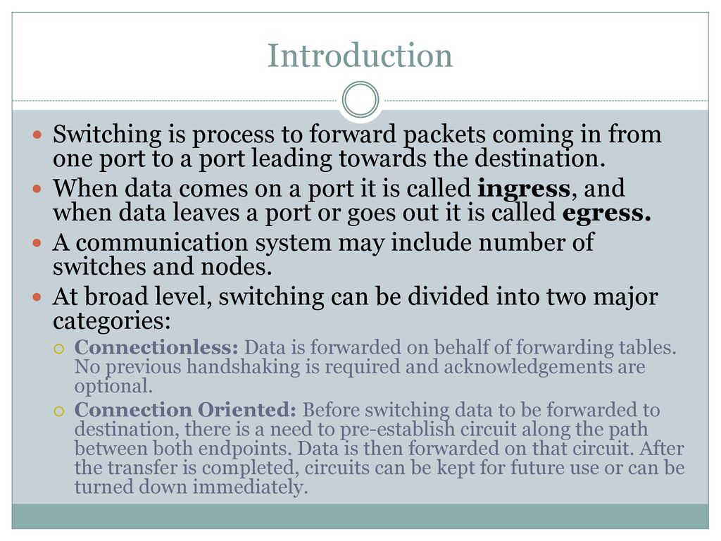 Packet Switching Datagram Approach Virtual Circuit Ppt Virtualcircuit 2 Introduction