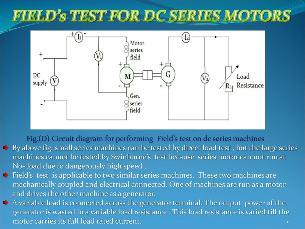 FIELD's TEST FOR DC SERIES MOTORS