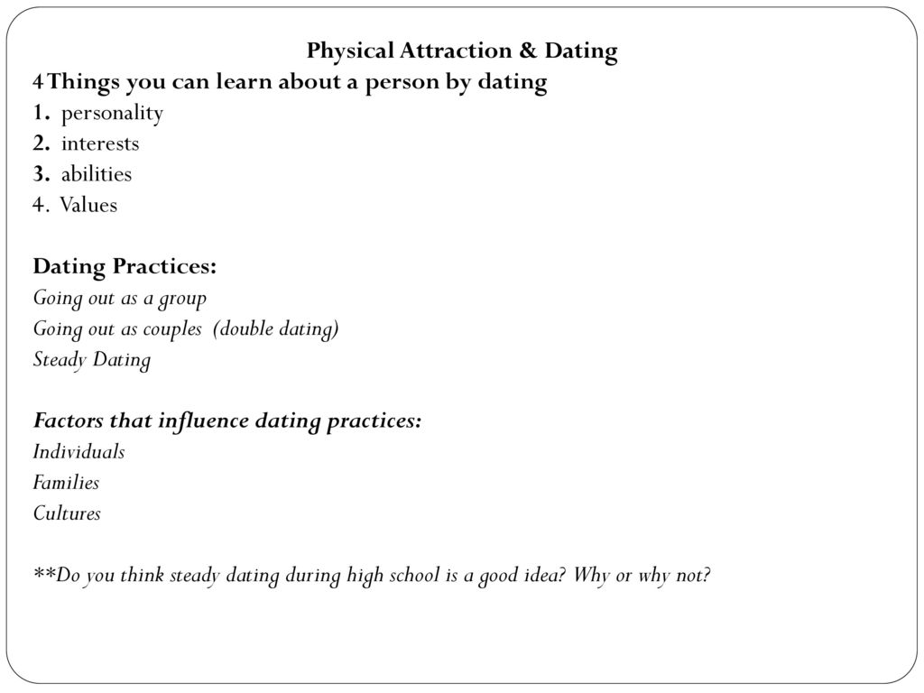 Influence dating practices