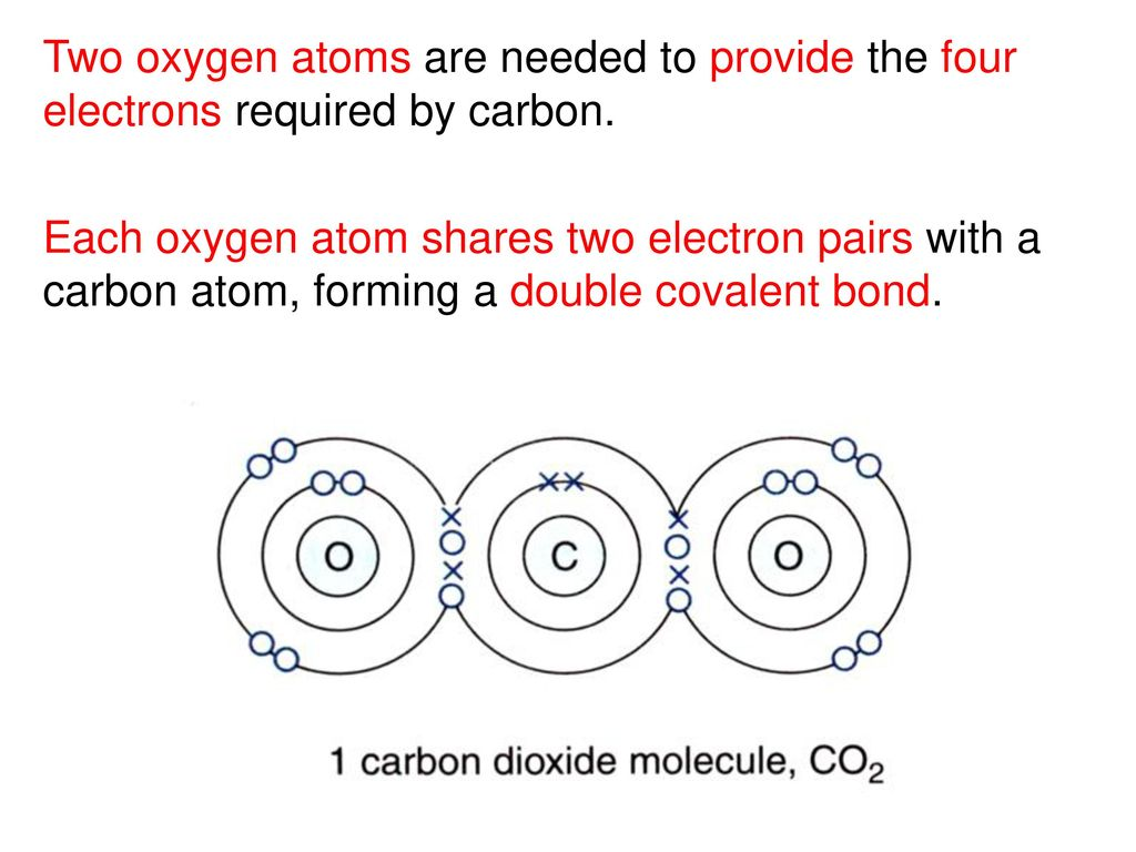 The Significance Of Noble Gas Structures In Covalent Bonding Ppt Oxygen Atom Model Atomic Diagram Two Atoms Are Needed To Provide Four Electrons Required By Carbon