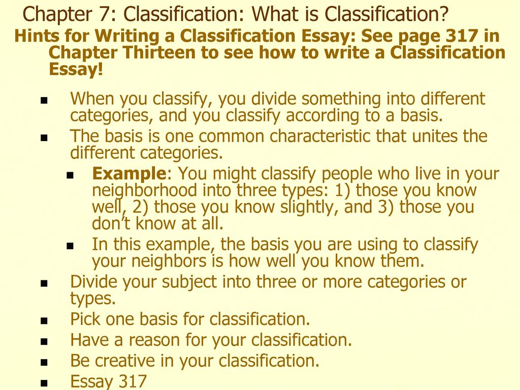 Chapter  Classification What Is Classification  Ppt Download Chapter  Classification What Is Classification Business Plan Writers In Durban also Essay Reflection Paper Examples  Help I Need To Write A Theory Of Personality