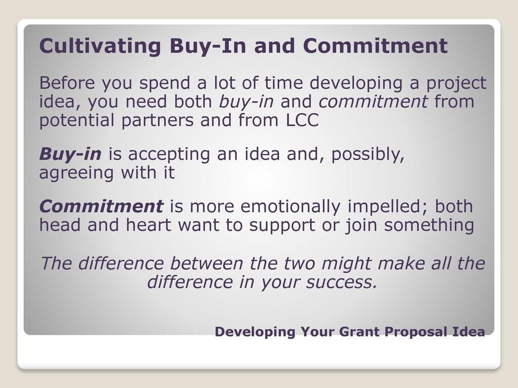 difference between grant and proposal