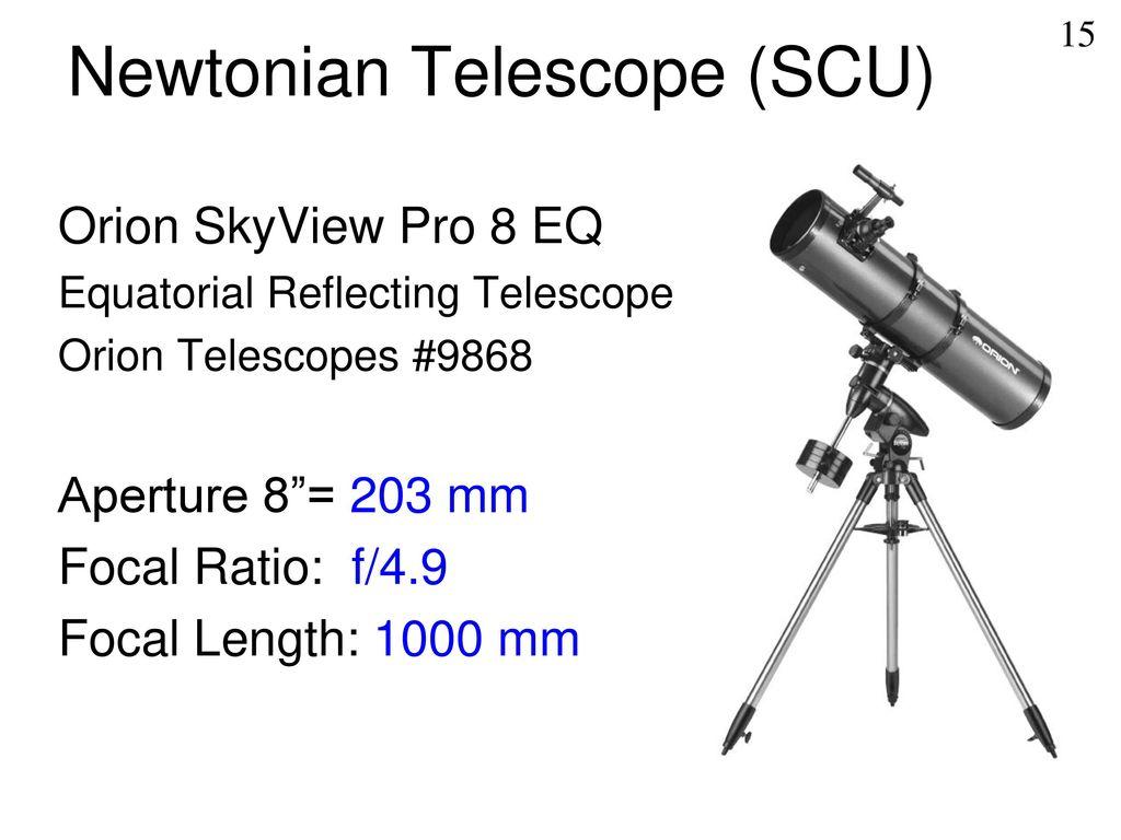 "Into to Telescopes Version for CSUEB (8"" Celestron) - ppt"