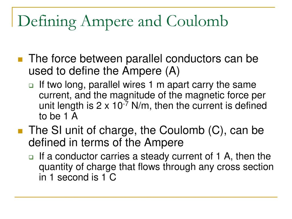 Charges moving in a wire - ppt download