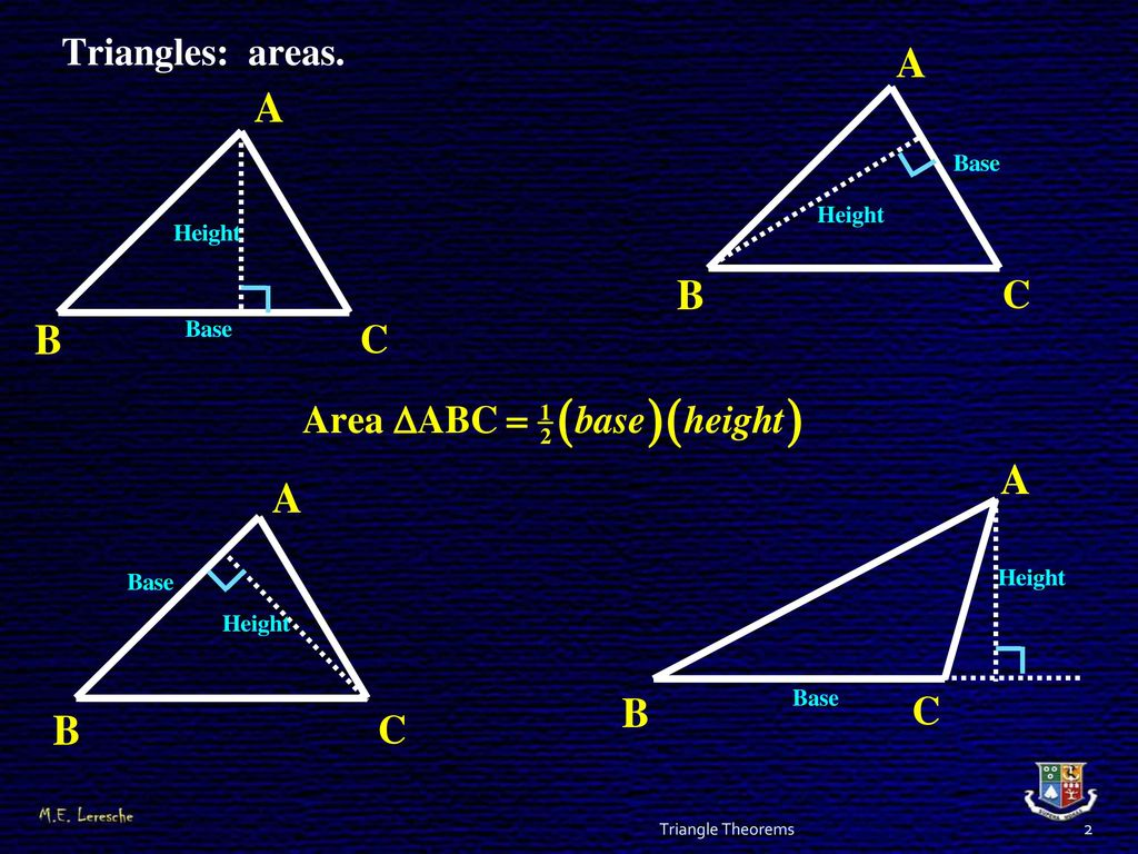 GRADE 12 EUCLIDEAN GEOMETRY Triangle Theorems  - ppt download