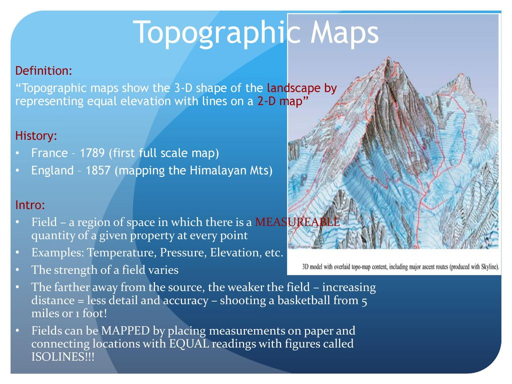 Topographic Maps Definition: - ppt download on