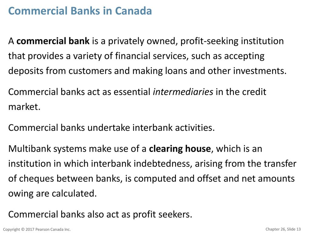 Commercial Banks in Canada