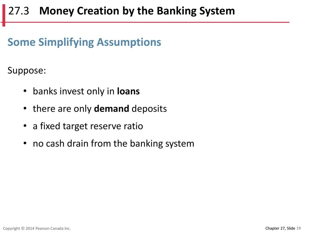 27.3 Money Creation by the Banking System