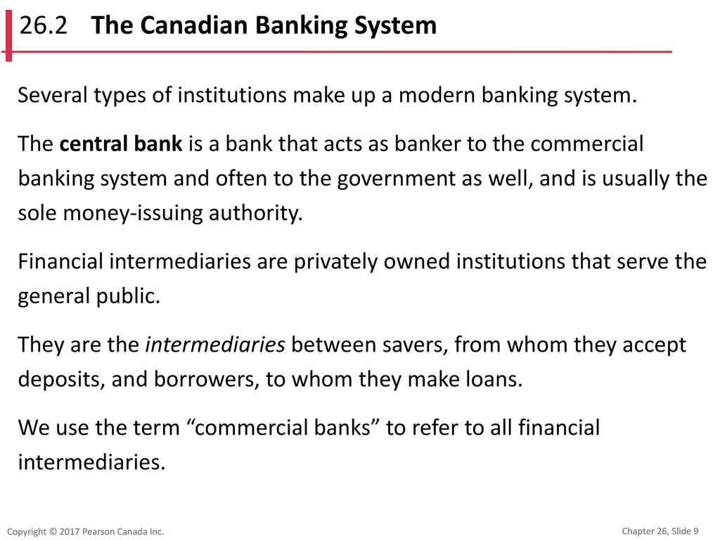 26.2 The Canadian Banking System