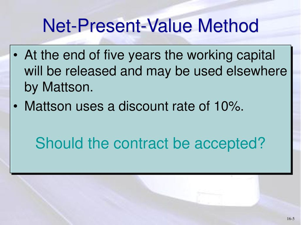 The released amount of working capital as a result of their acceleration, how to determine