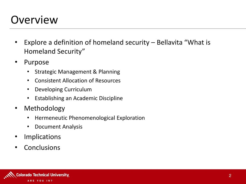 the evolution of homeland security: a hermeneutic phenomenological