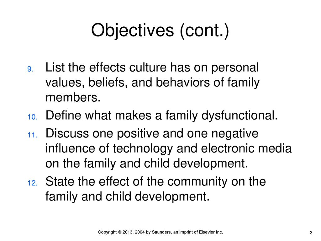 negative influence of family