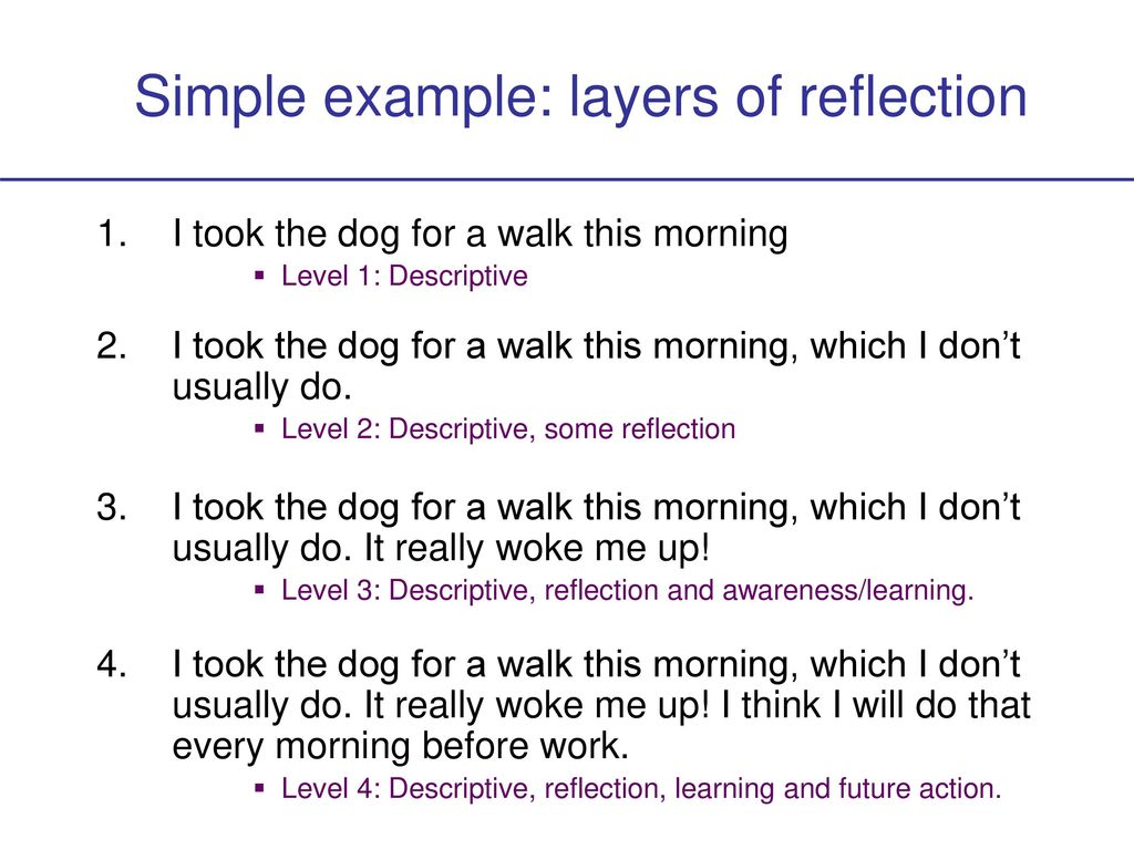 Introduction to Reflective Practice - ppt download