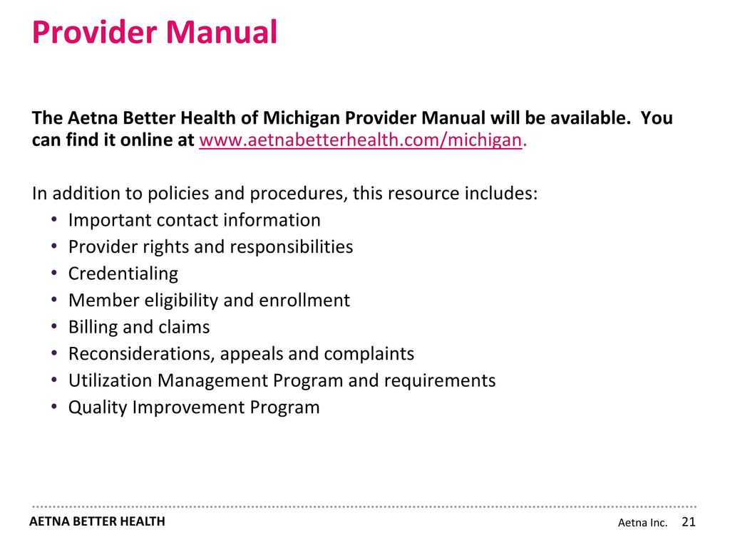 aetna better health of michigan MI Health Link Providers Lakeland Health System Payer Conference ...