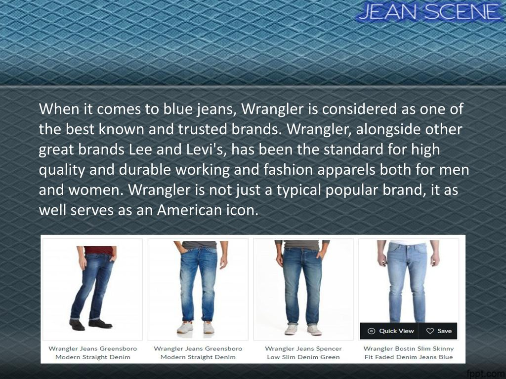 today wrangler jeans is the best denim brand ppt download