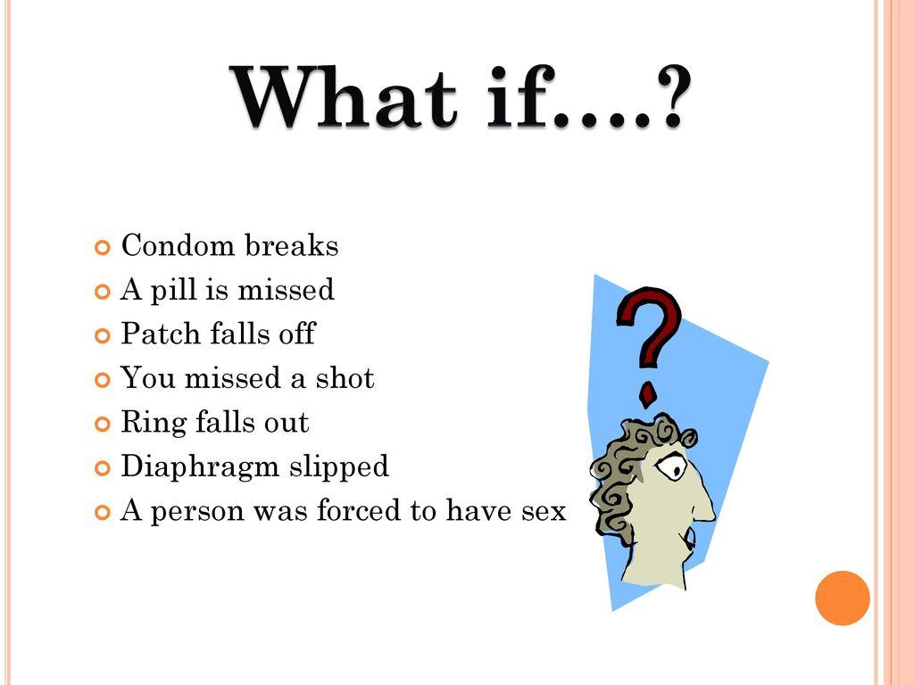 condom falling off