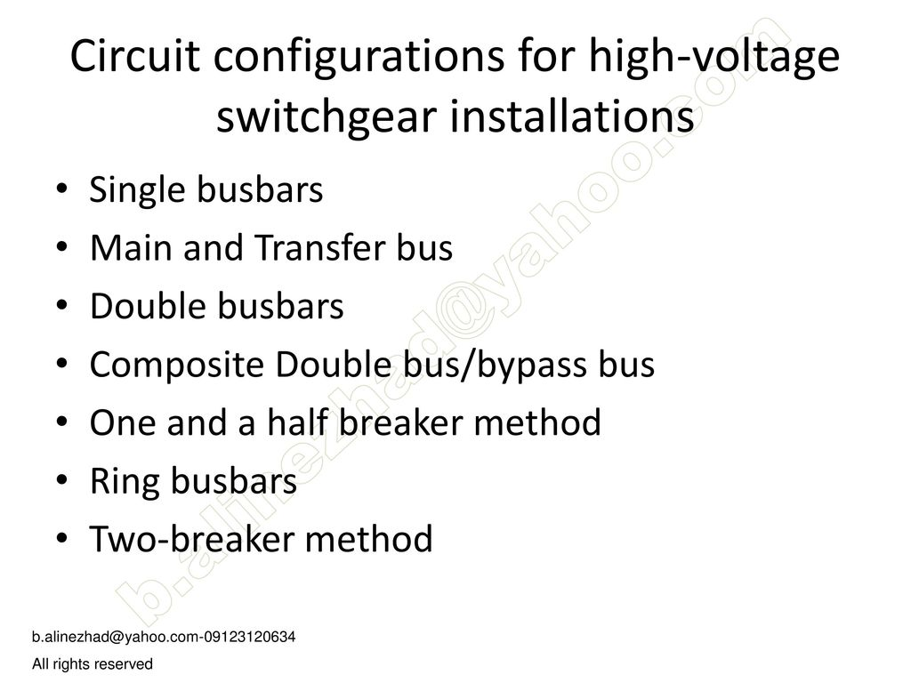 Single Line Diagram Ppt Download Wiring High Voltage Switch Gear 2 Circuit Configurations For Switchgear Installations