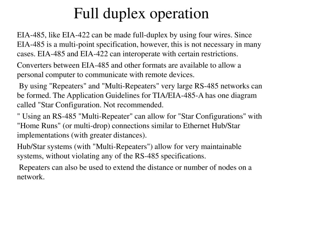Rs 232 And 485 Unit Ppt Download Data Interface Gives Isolated Full Duplex Operation