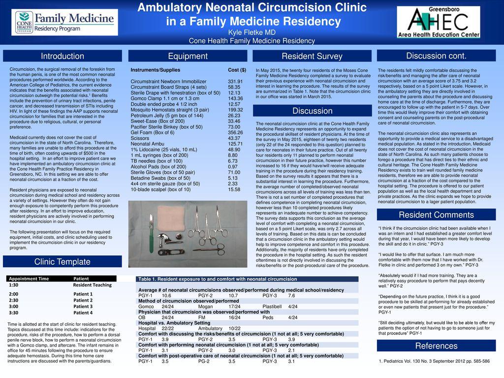 Ambulatory Neonatal Circumcision Clinic in a Family Medicine