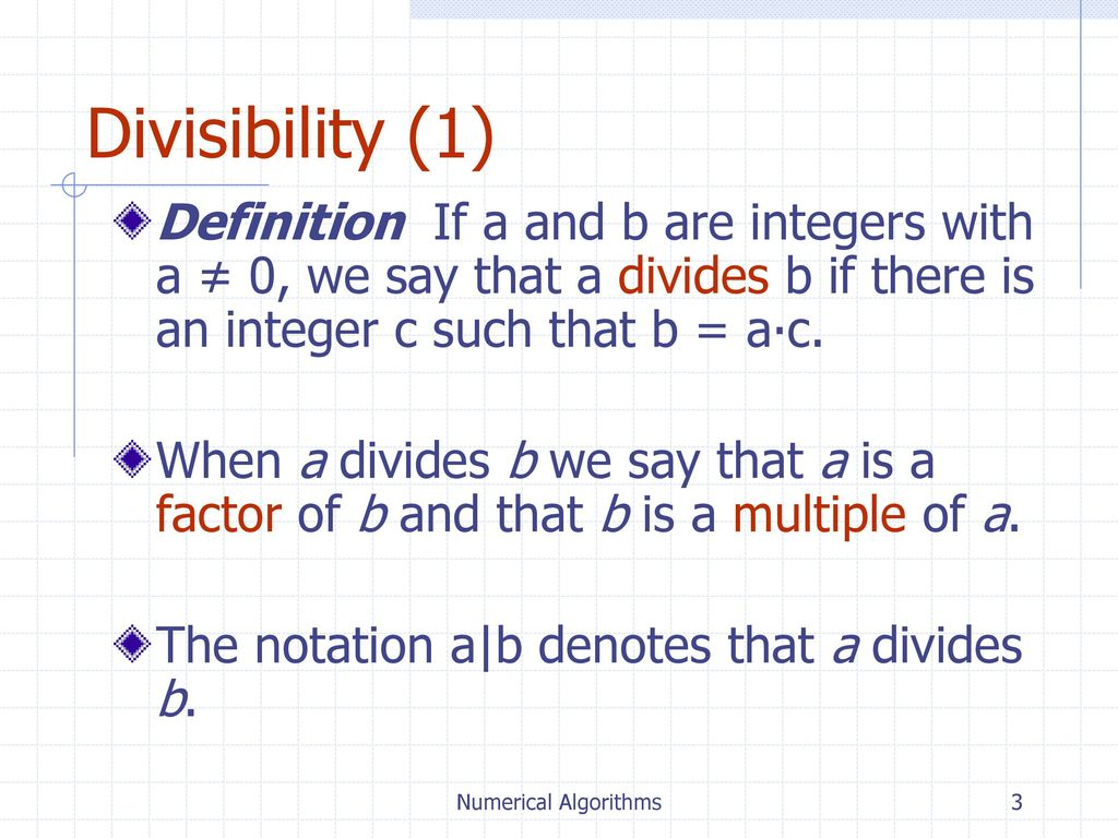 Indications of divisibility