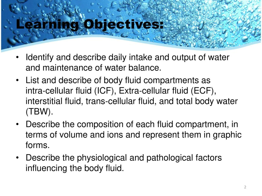 Body Fluids and Electrolytes - ppt download