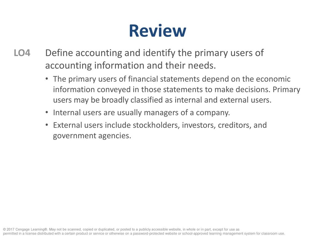 users of financial information and their needs