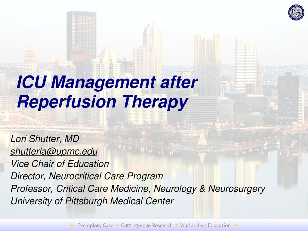 ICU Management after Reperfusion Therapy - ppt download
