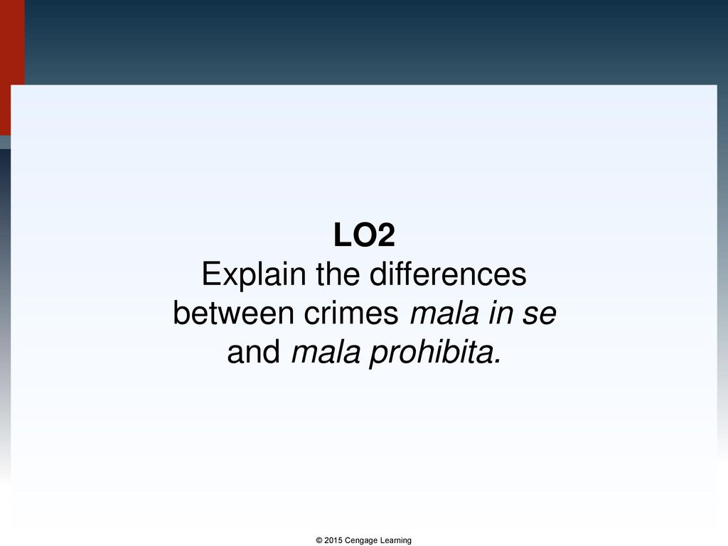 difference between mala in se and mala prohibita