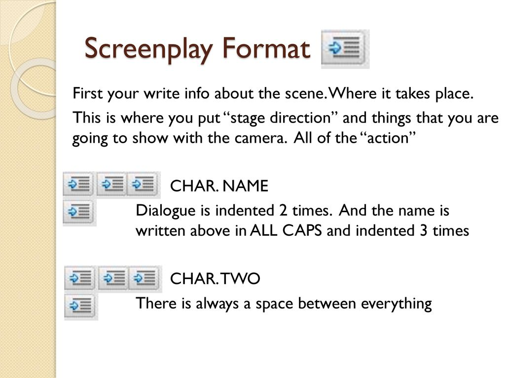 Writing your screenplay - ppt download
