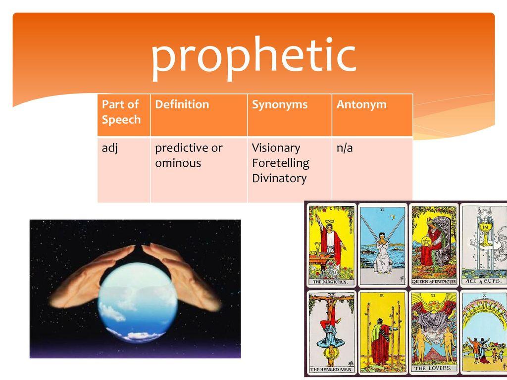 Prophetic Functions