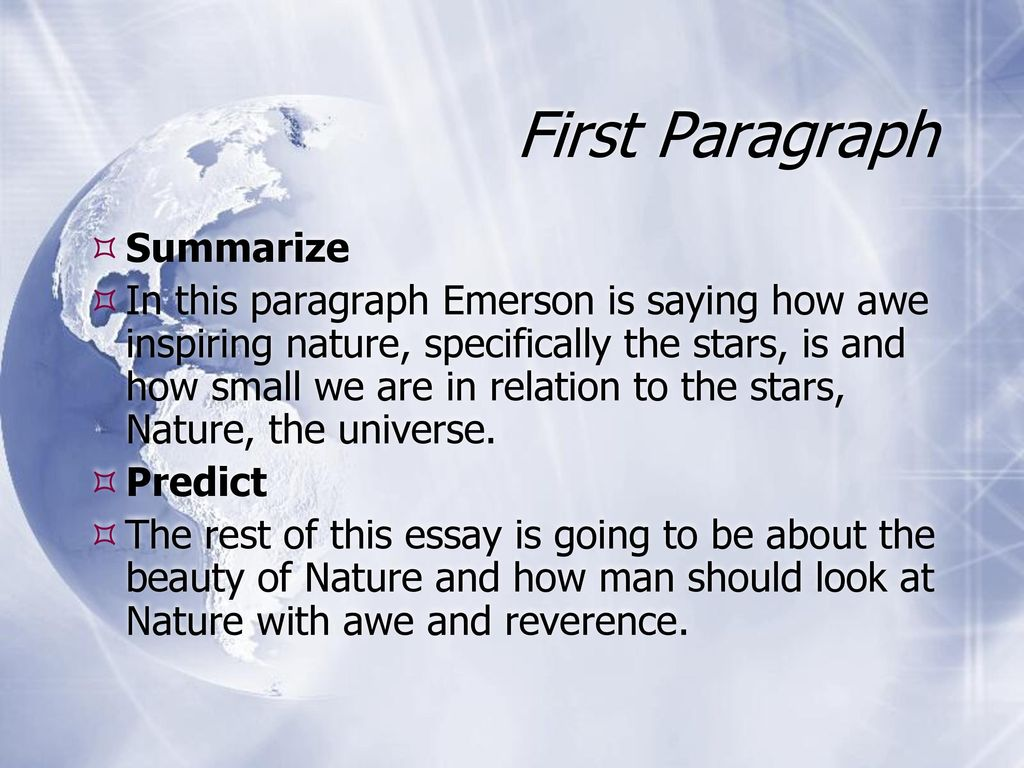 from Nature by Ralph Waldo Emerson - ppt download