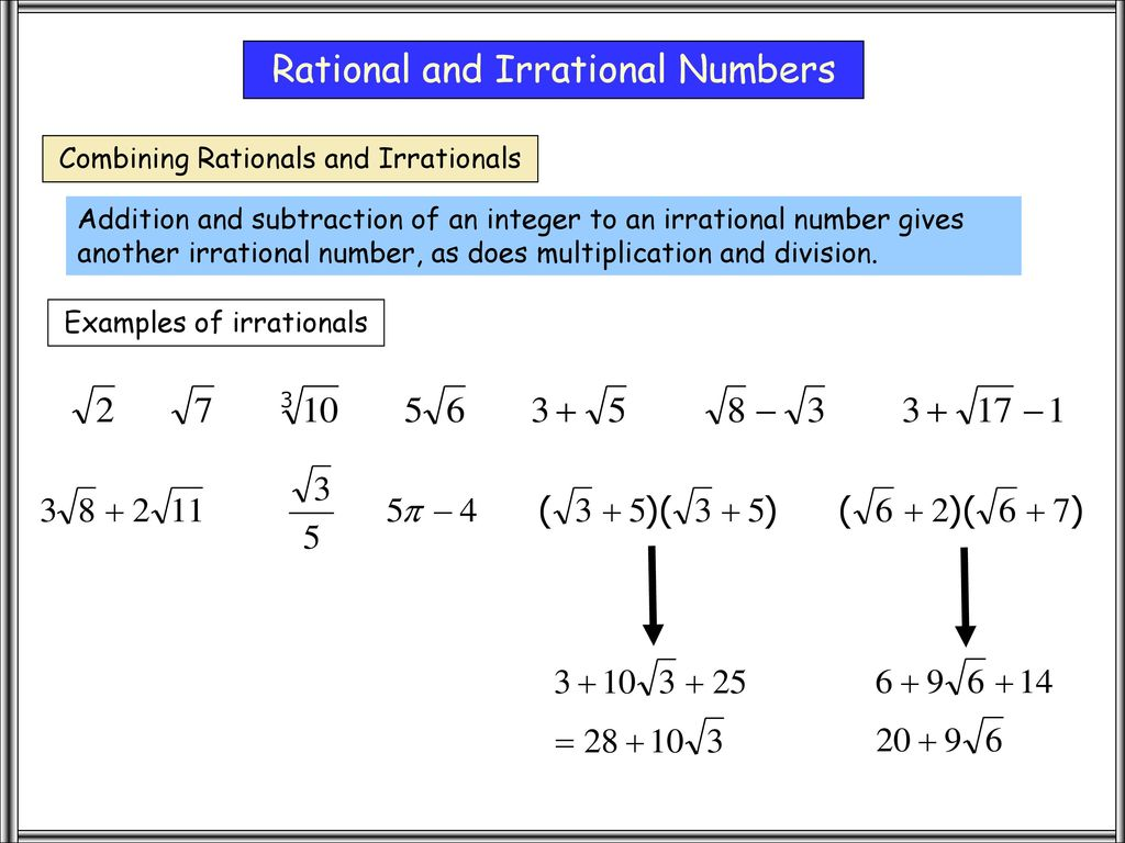 rational and irrational numbers - ppt download