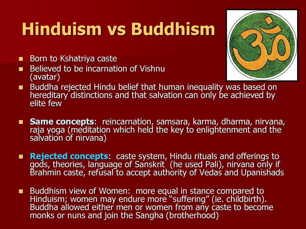Hinduism vs Buddhism Born to Kshatriya caste - ppt download