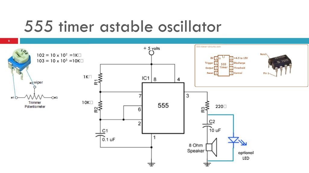 CU ATLAS Practical electronics Making NOISE with the 555 TIMER - ppt