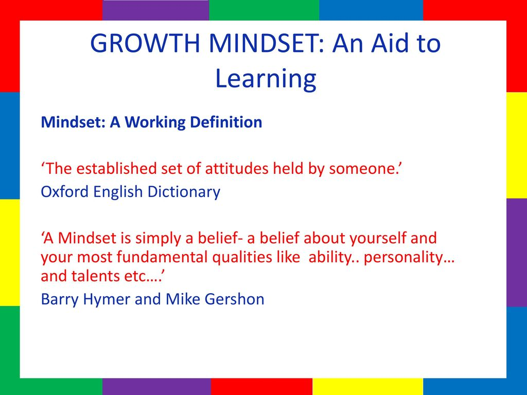 growth mindset trainer: sharon amesu director: life in colour - ppt