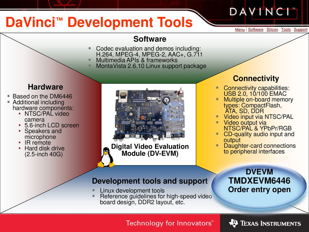 DaVinci™ Software Overview - ppt download
