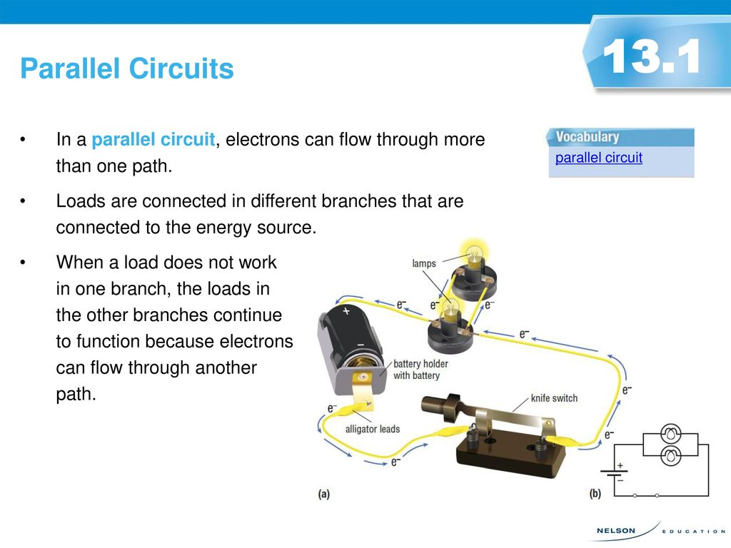 Circuit Diagrams 131 An Electric Can Be Represented Using A Schematic Further How To Read Electrical Parallel Circuits In Electrons Flow Through More Than One Path