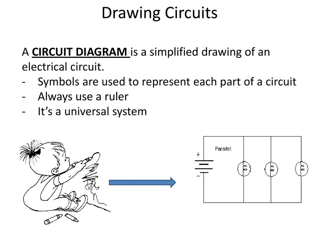 Circuits How We Get Electricity To Do Work Ppt Download Electric Circuit Drawing A Diagram Is Simplified Of An Electrical Symbols Are